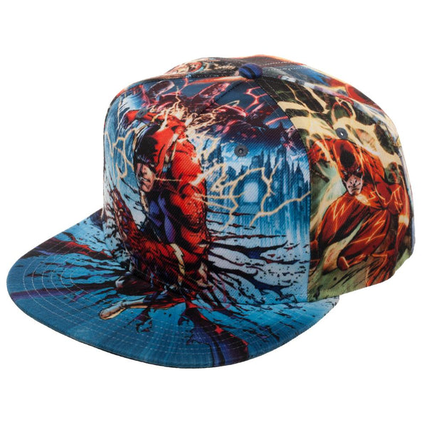 43cd4f20 DC Comics The Flash Sublimated All Over Print Snapback – Dweebzilla.com
