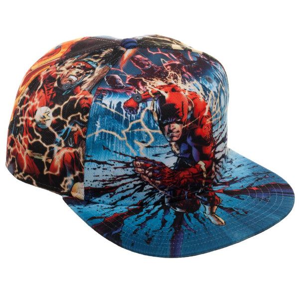 b4412f52975 DC Comics The Flash Sublimated All Over Print Snapback – Dweebzilla.com