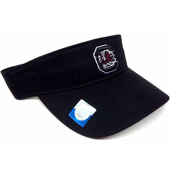 University Of South Carolina Gamecocks Mascot Logo Black Sun Visor Hat