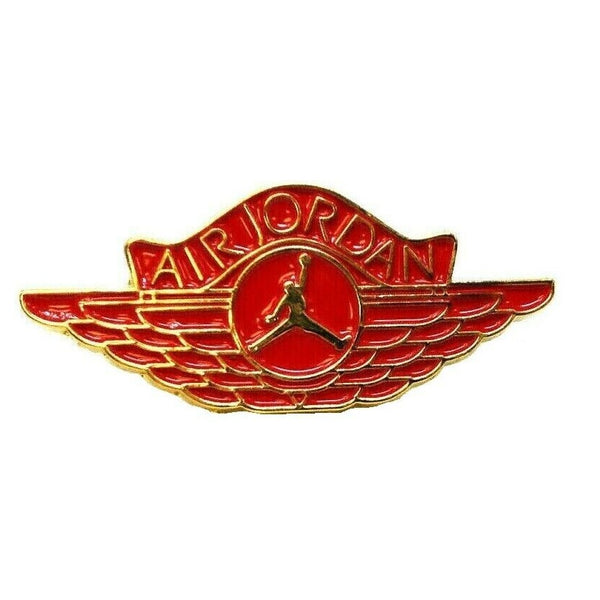 Red & Gold Air Jordan Jumpman Wing Logo Lapel Pin