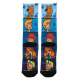 Scooby-Doo Character Panels Premium Sublimated All Over Print Men's Crew Socks