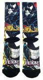 Marvel Comics Venom Classic Comic Panels Premium Sublimated Crew Socks