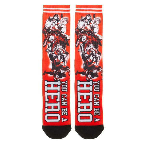 My Hero Academia You Can Be A Hero Sublimated Men's Crew Socks