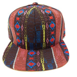 Brown & Red Aztec / Navajo All Over Print Snapback