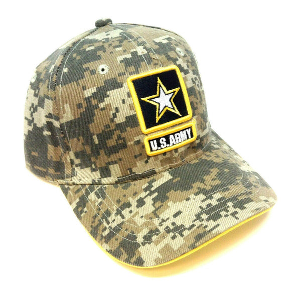 United States Army 3D Star Seal Logo Digital Camo Adjustable Hat