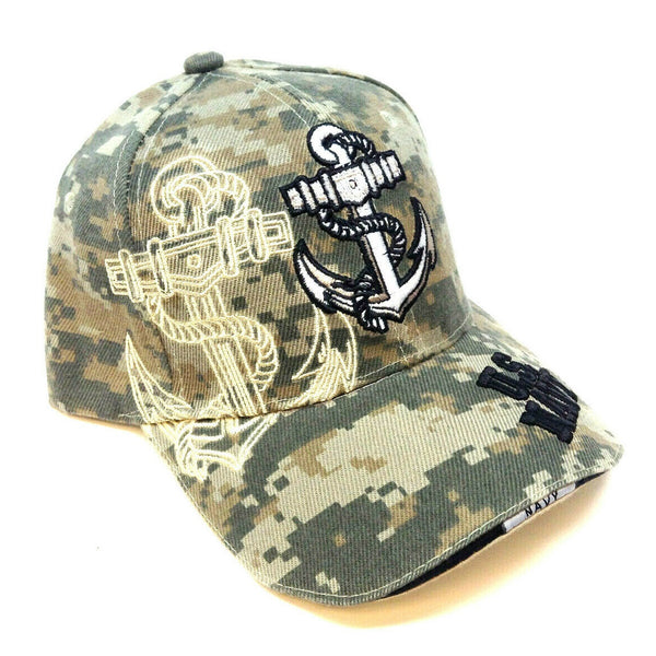 United States Navy Anchor Digital Camo Adjustable Hat