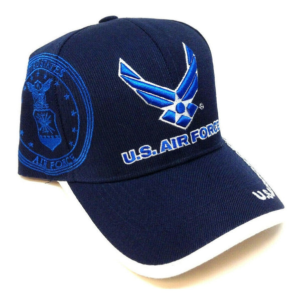 United States Air Force 3D Wings Logo Blue Adjustable Hat