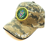 United States Army Seal Logo w/ Stars Digital Camo Adjustable Hat