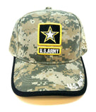United States Army Strong Digital Camo Black Border Star Adjustable Hat