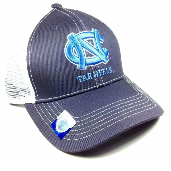 University Of North Carolina UNC Tar Heels Grey Ghost Adjustable Mesh Trucker Curved Bill Snapback Hat