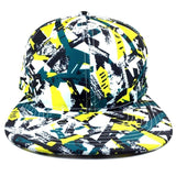 Modern Art Abstract Multicolor All Over Print Snapback
