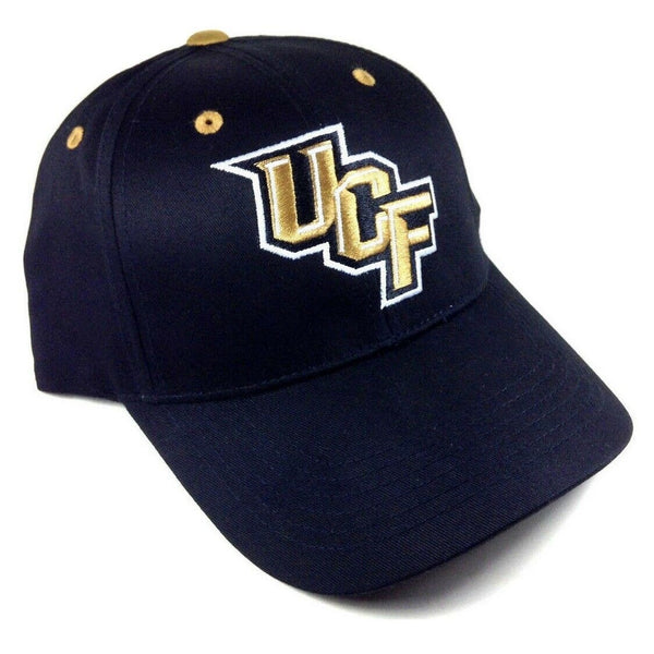 UCF University Of Central Florida Knights Text Logo Black MVP Curved Bill Adjustable Hat