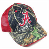 University of Alabama Crimson Tide Mossy Oak Camouflage Adjustable Mesh Trucker Curved Bill Snapback Hat