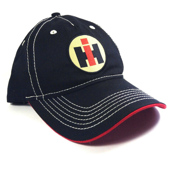 International Trucks Black Harvester Logo Slouch Adjustable Curved Bill Hat