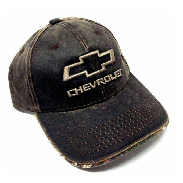 Chevrolet Bow Tie Logo Realtree Brown Wax Curved Bill Snapback Hat