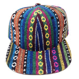 Blue Multicolor Striped Aztec / Navajo All Over Print Snapback