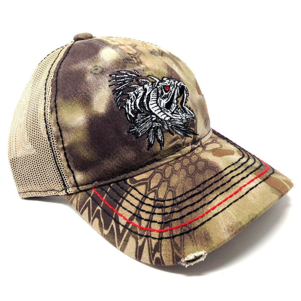 Kryptek Game Fish Skeleton Fishing Mesh Trucker Adjustable Curved Bill Slouch Hat