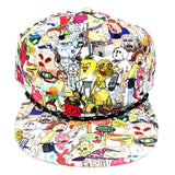 Rick & Morty Characters Sublimated All Over Print Slouch Snapback