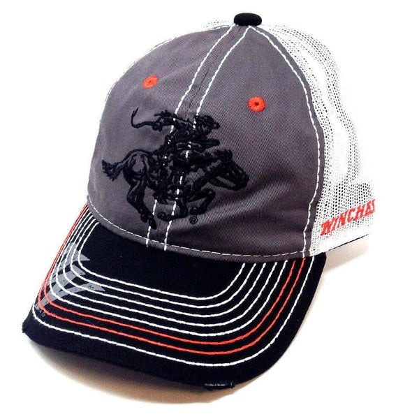 Winchester Horse & Rider Mesh Trucker Adjustable Curved Bill Slouch Hat