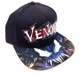 Marvel Comics Venom 3D Text Rubber Logo Sublimated Bill Snapback