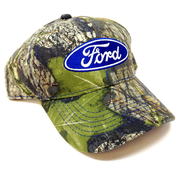 Ford Logo Mossy Oak Camo Adjustable Hat