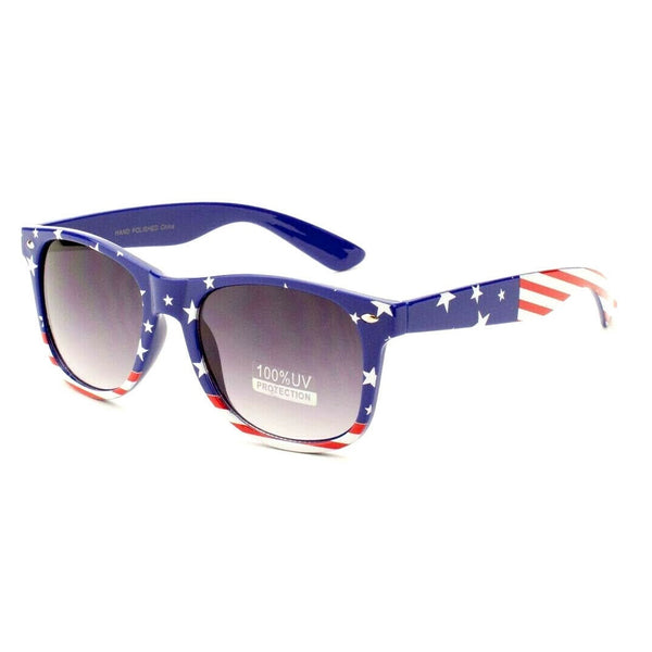 USA Flag Stars & Stripes Patriotic Classic Square Sunglasses
