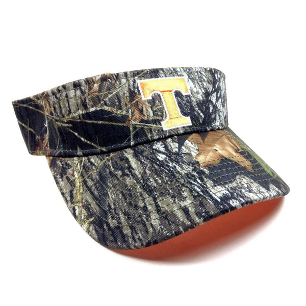"University Of Tennessee Volunteers ""T"" Text Logo Mossy Oak Camouflage Sun Visor Hat"