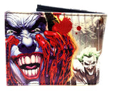 DC Comics The Joker Sublimated Graphic Print PU Faux Leather Men's Bifold Wallet