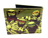 Nickelodeon Teenage Mutant Ninja Turtles Sublimated Graphic Print PU Faux Leather Men's Bifold Wallet