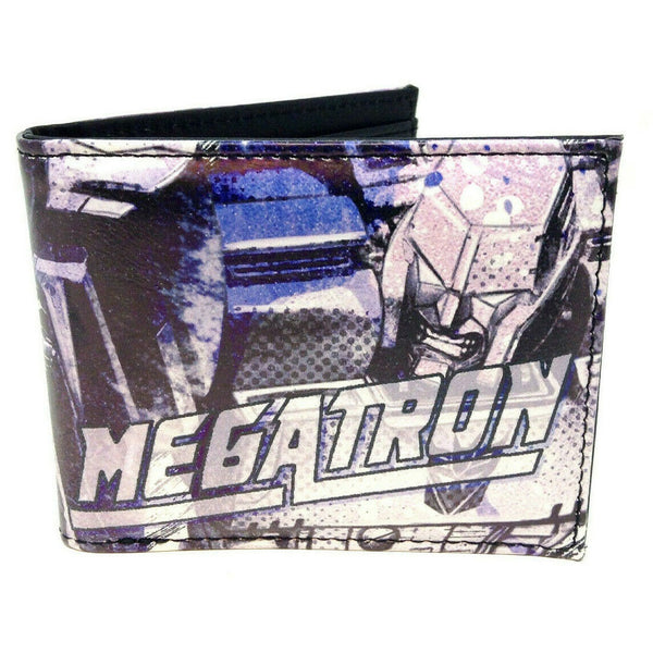 Transformers Megatron Sublimated Graphic Print PU Faux Leather Men's Bifold Wallet