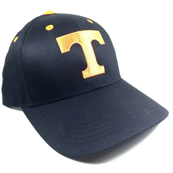 University Of Tennessee Volunteers Logo Black MVP Curved Bill Adjustable Hat