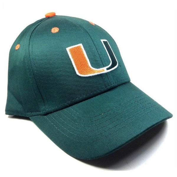 University Of Miami Hurricanes Logo Green MVP Curved Bill Adjustable Hat