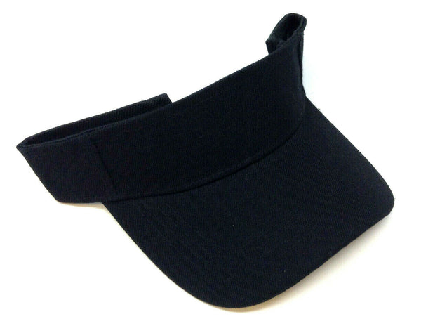 Solid Plain Curved Bill Sun Visor Golf Hat
