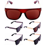 Square Marijuana Weed Leaf Print Retro Hip Hop Sunglasses