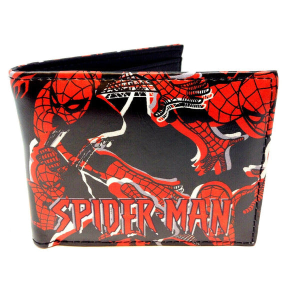 Marvel Comics Amazing Spider-Man Sublimated Graphic Print PU Faux Leather Men's Bifold Wallet