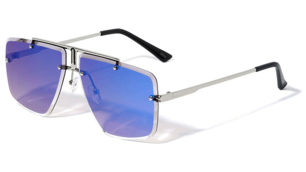 Luxury Elite Rimless Square Aviator Sunglasses