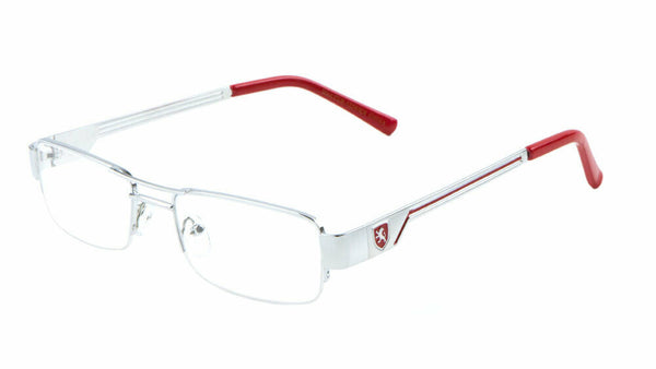 Khan Slim Half Rim Semi Rimless Rectangular Clear Lens Sunglasses