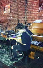 Avi Buffalo performing at Fourth Street Vine in Long Beach Crazy 8 Moog Fender