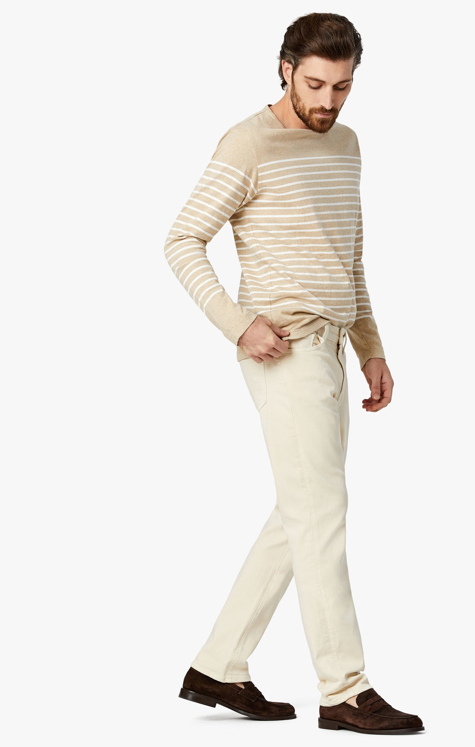 Cool Tapered Leg Pants In Natural Comfort Image 3