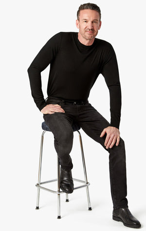Cool Tapered Leg Jeans in Black Soft Comfort