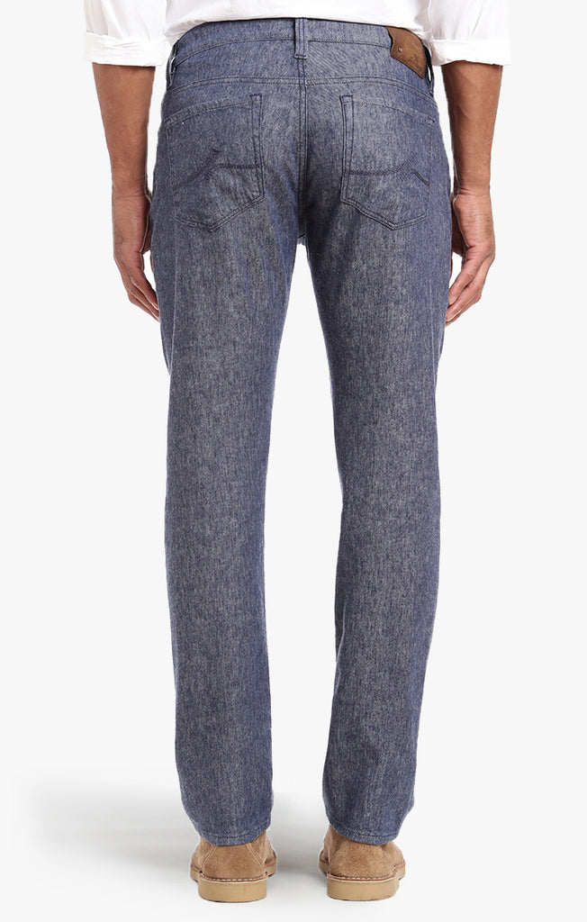 Courage Straight Leg In Indigo Linen Denim - 34 Heritage