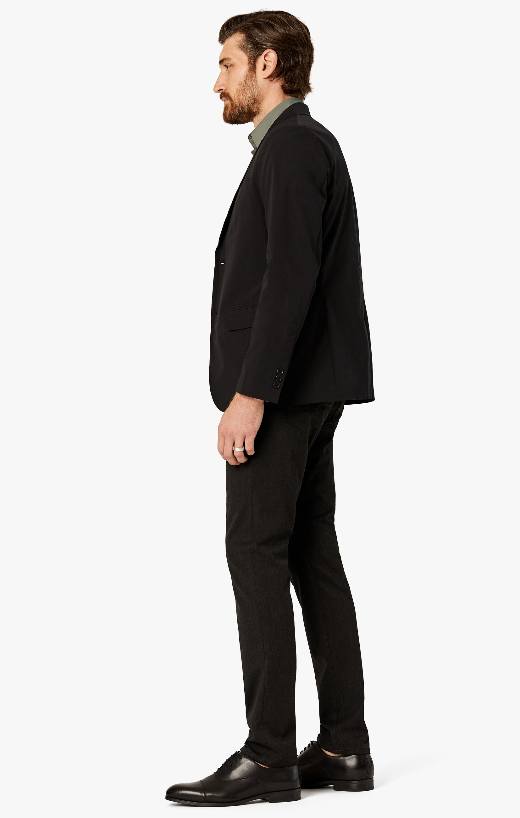 Cool Tapered Leg Pants In Charcoal Winter Cashmere Image 4
