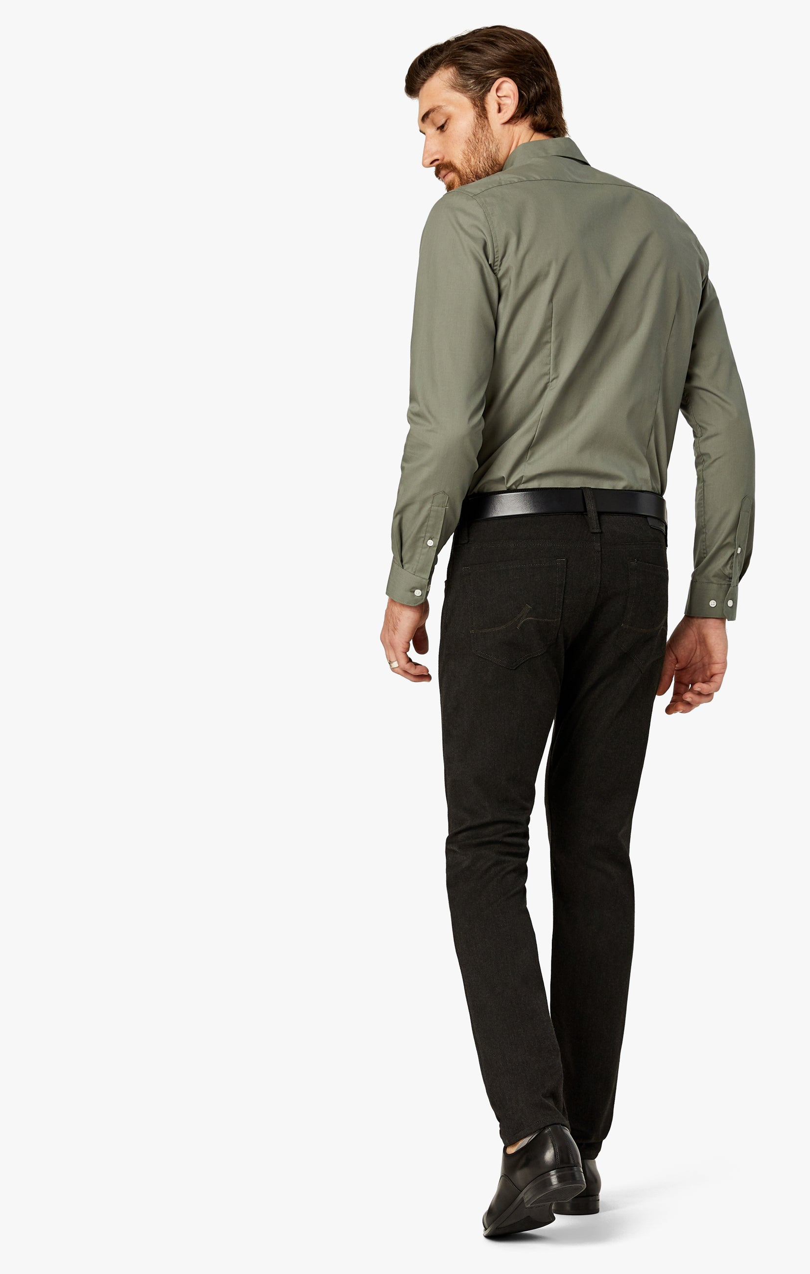 Cool Tapered Leg Pants In Charcoal Winter Cashmere Image 1