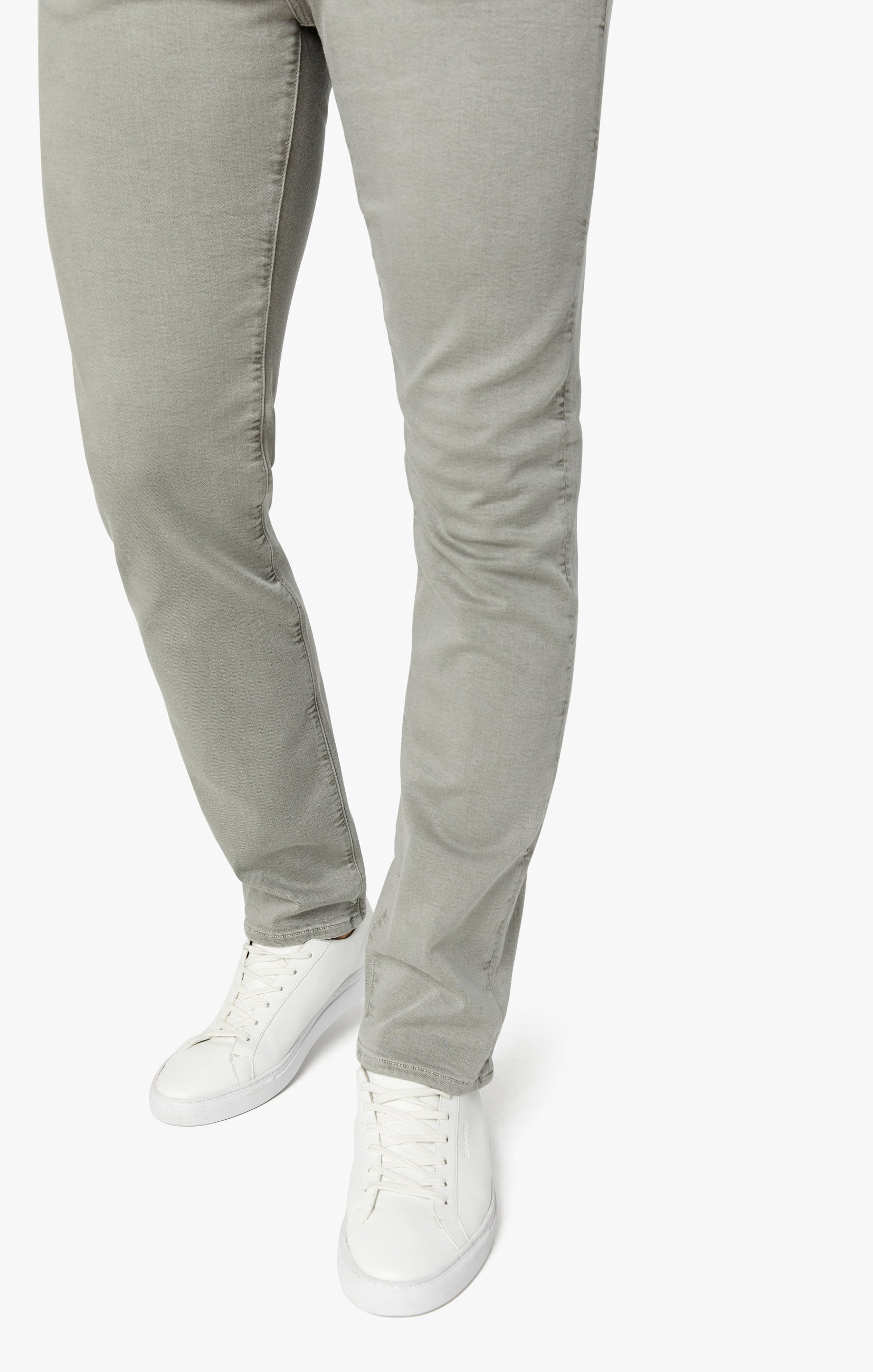 Cool Tapered Leg Pants In Light Grey Comfort Image 7