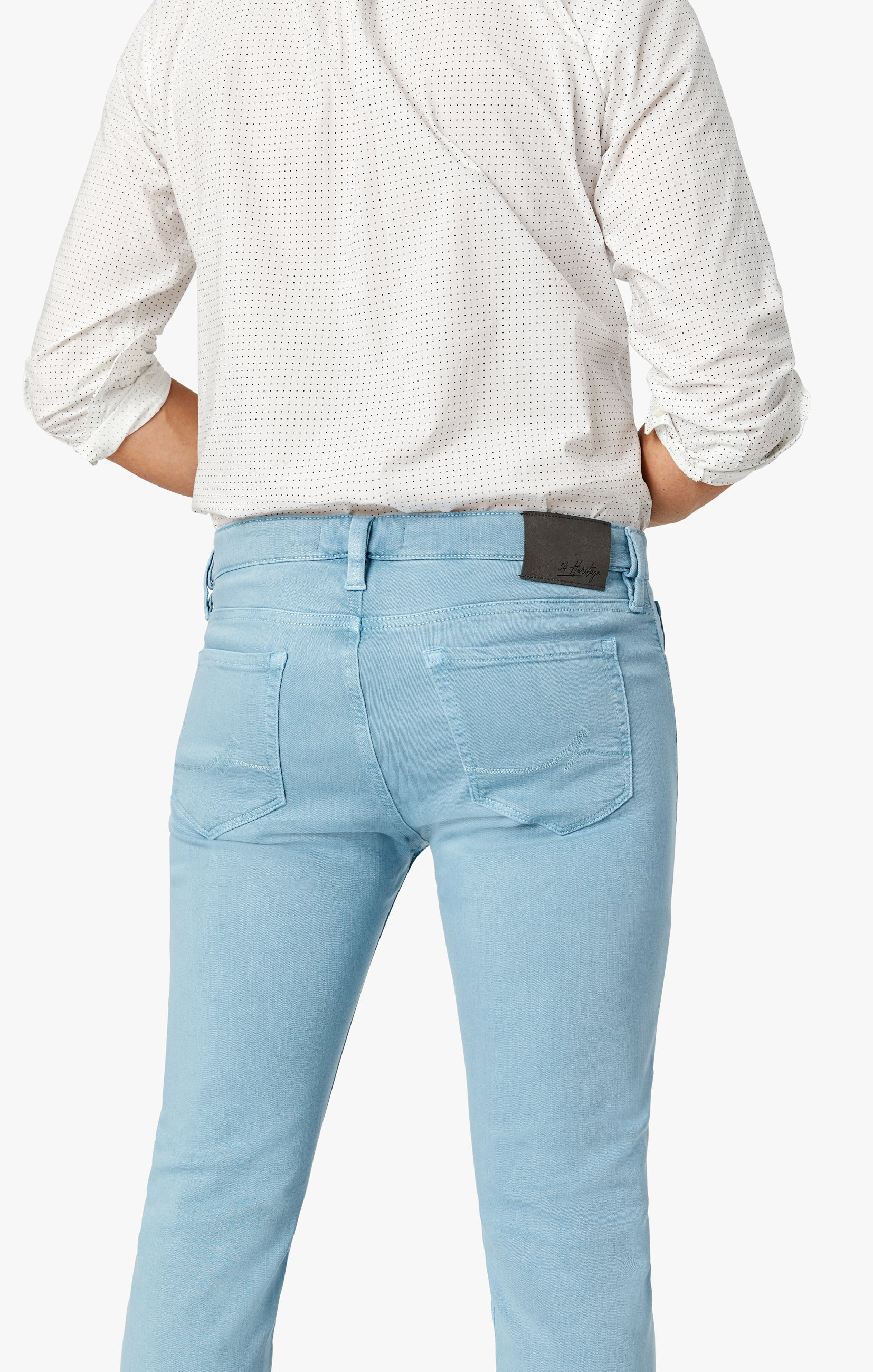 Cool Tapered Leg Pants In Light Blue Comfort Image 4