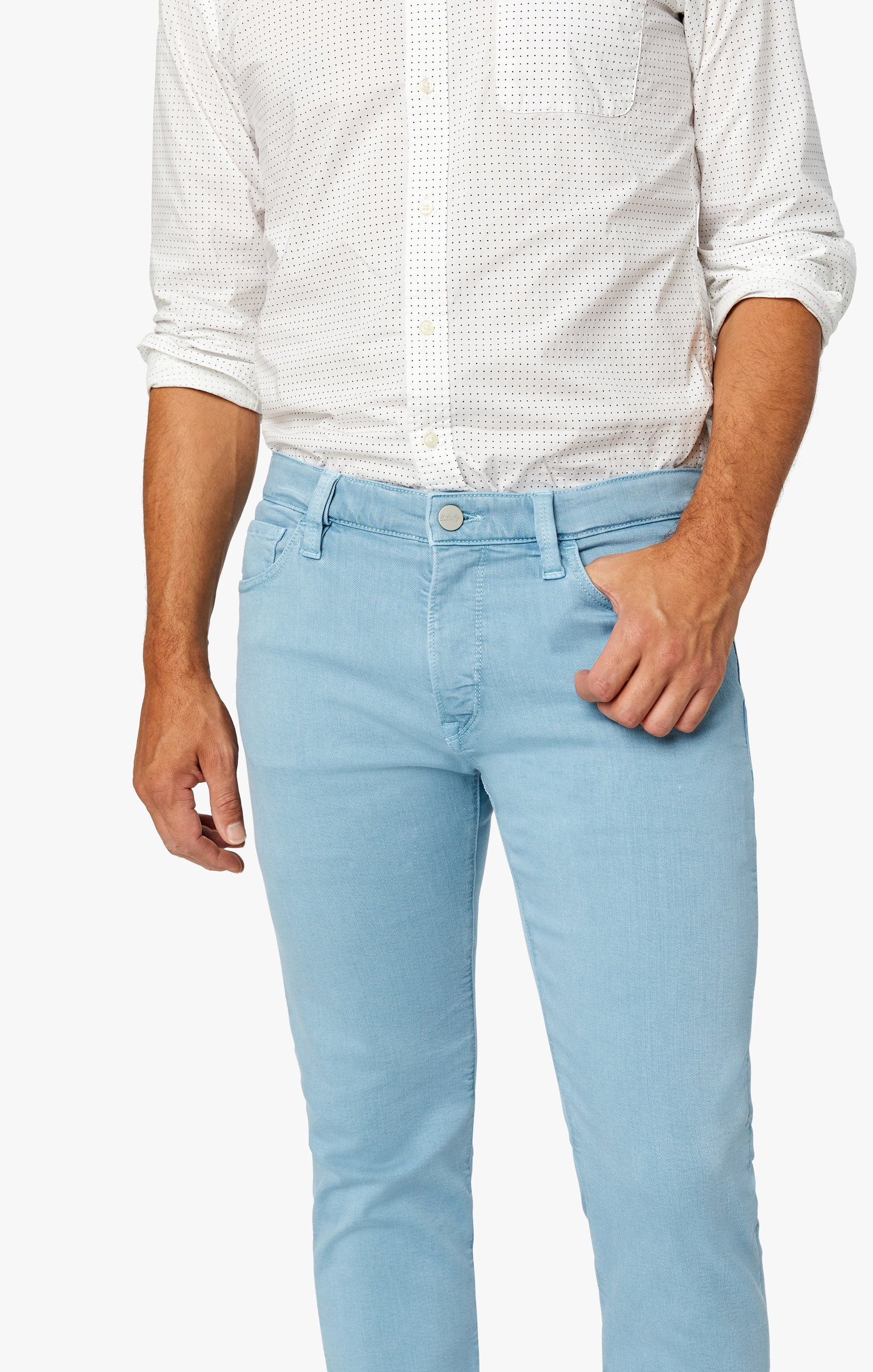 Cool Tapered Leg Pants In Light Blue Comfort Image 5