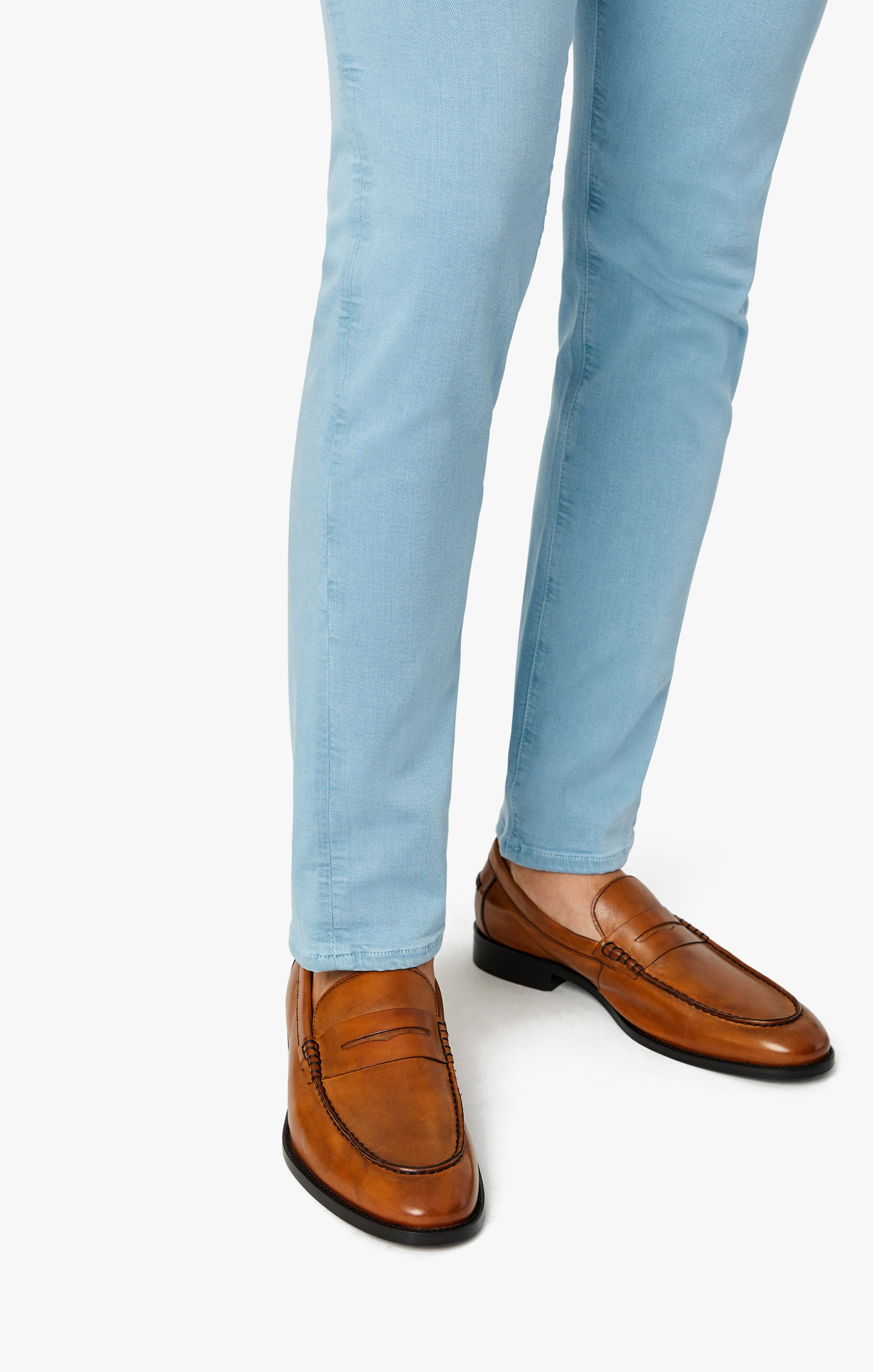 Cool Tapered Leg Pants In Light Blue Comfort Image 6