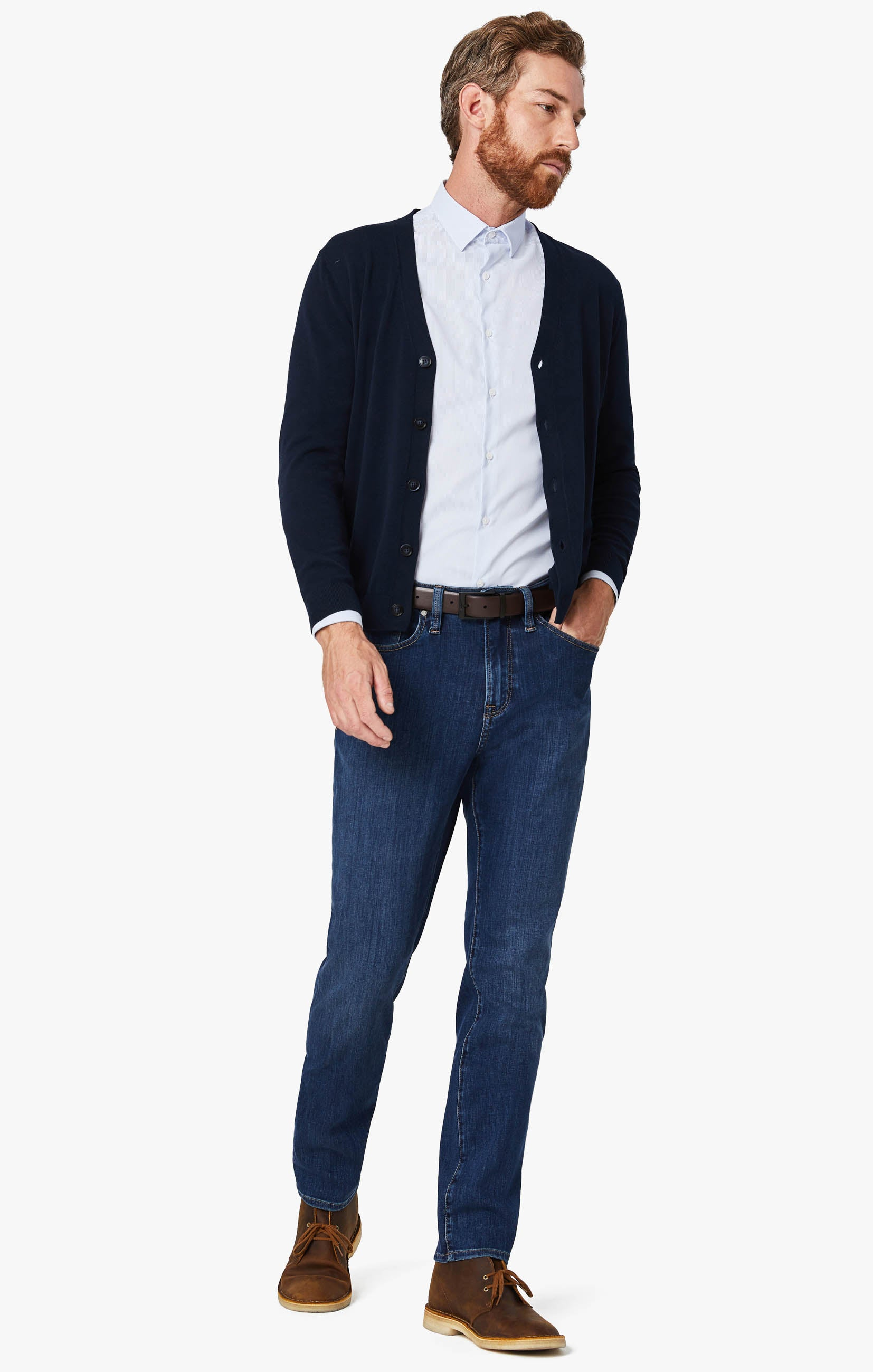 Cool Tapered Leg Jeans In Mid Siena Image 3