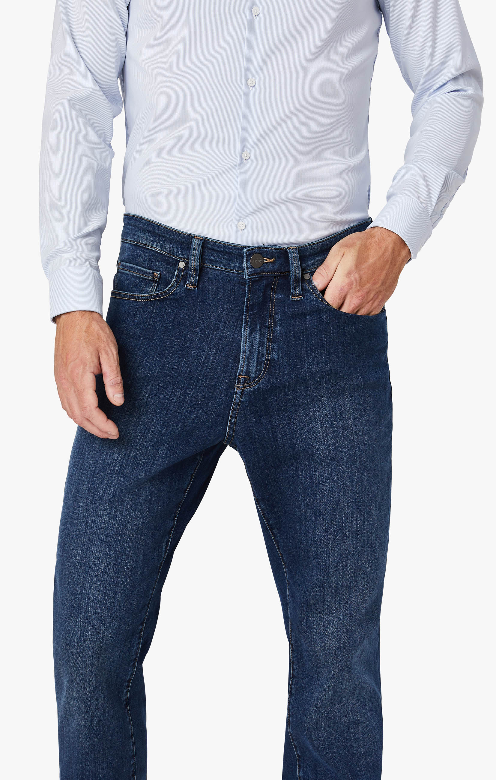 Cool Tapered Leg Jeans In Mid Siena Image 7
