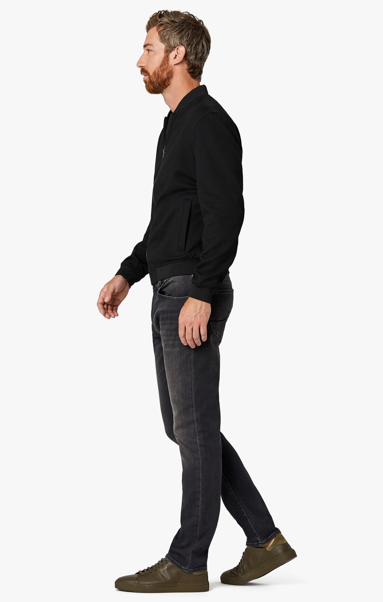 Cool Tapered Leg Jeans In Mid Smoke Smart Casual